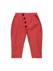 Snuggles Kids Unisex Peach-Coloured Trousers