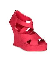Soft & Sleek Women Red Wedges