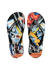 Sole Threads Men Black Biker Boys Flip-Flops