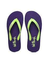 Sole Threads Men Green & Purple Flip Flops