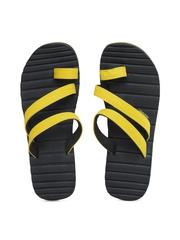 Sole Threads Men Black & Yellow Caesar Flip Flops