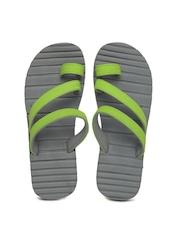 Sole Threads Men Grey & Green Caesar Flip Flops
