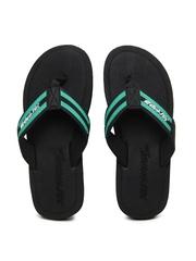 Sole Threads Men Black & Green Flip Flops