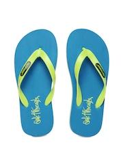Sole Threads Men Green & Blue Flip Flops