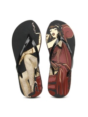 Sole Threads Women Black Smoke Flip-Flops