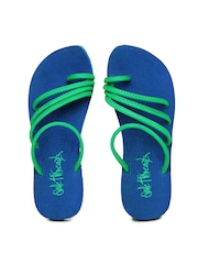 Sole Threads Women Blue Flip Flops