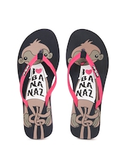 Sole Threads Women Navy Blue Monkey Flip Flops