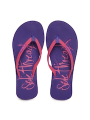 Sole Threads Women Pink & Purple Flip Flops