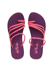 Sole Threads Women Purple Flip Flops