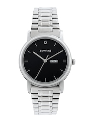 Sonata Men Black Dial Watch NC1013SM04