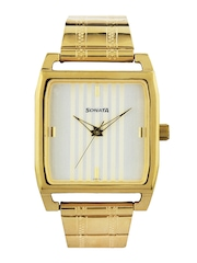 Sonata Men Cream Coloured Dial Watch