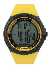 Sonata Men Yellow Digital Watch