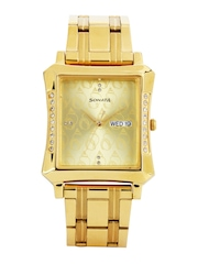 Sonata Sona Sitara Men Gold-Toned Dial Watch 7106YM02