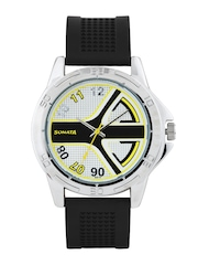 Sonata Men White & Black Textured Dial Watch