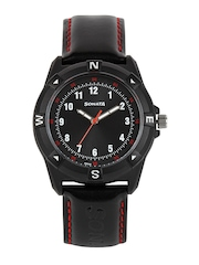 Sonata Unisex Black Dial Watch