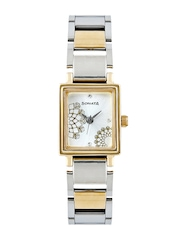 Sonata Women Silver-Toned Dial Wedding Collection Watch 8080BM01