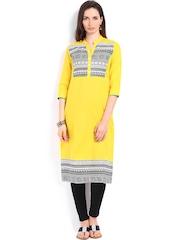 Span Women Yellow Kurta