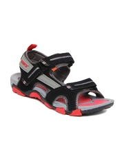 Sparx Men Black & Grey Sports Sandals