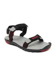 Sparx Men Black Sports Sandals