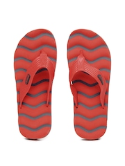 Sparx Men Red & Navy Flip Flops