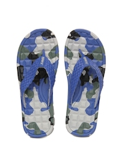 Sparx Men Blue Printed Flip Flops