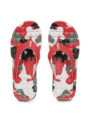 Sparx Men Red Printed Flip Flops