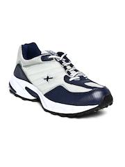 Sparx Men Grey & Navy Running Shoes
