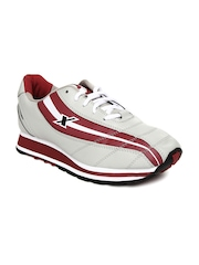 Sparx Men Grey & Maroon Sports Shoes