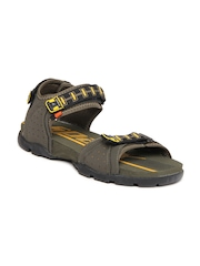 Men Olive Green Sports Sandals Sparx 366508