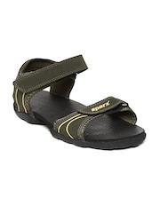 Men Olive Green Sports Sandals Sparx