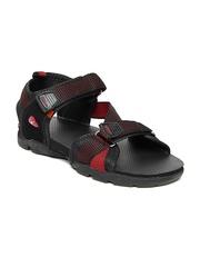 Sparx Men Black & Red Sports Sandals
