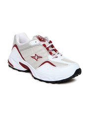Sparx Men White & Grey Sports Shoes