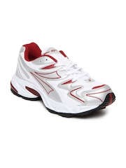 Sparx Men Silver Toned & White Sports Shoes