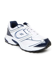 Sparx Men White & Navy Sports Shoes