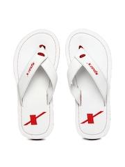 Sparx Men White Flip Flops