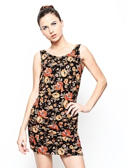 Species Multicoloured Floral Print Wool Blend Sheath Dress
