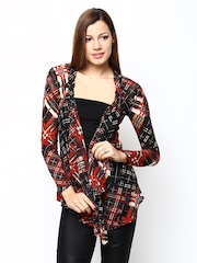 Species Women Multicoloured Printed Wool Blend Shrug