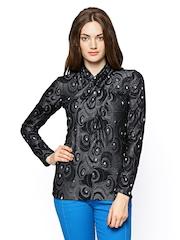 Species Women Black & Grey Wool Blend Top