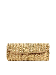 Spice Art Women Dholak Shaped Gold Clutch