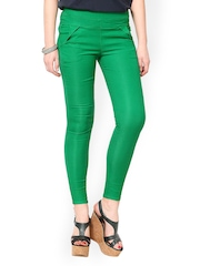 Sportelle USA INDIA Women Green Jeggings