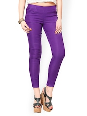 Sportelle USA INDIA Women Purple Jeggings