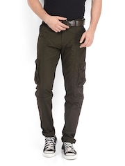 Sports 52 Men Coffee Brown Convertible Cargo Trousers