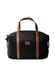 Srota Unisex Black Duffle Bag