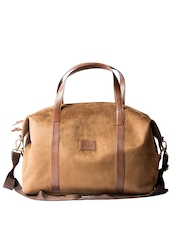 Srota Unisex Tan Duffle Bag