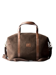 Srota Unisex Brown Duffle Bag