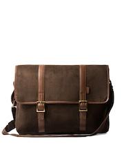 Srota Unisex Brown Laptop Bag