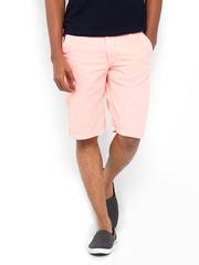 Status Quo Men Peach-Coloured Shorts