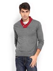 Status Quo Men Grey Melange Sweater