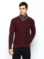 Status Quo Men Maroon Wool Blend Sweater