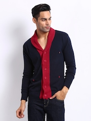 Status Quo Men Navy & Red Cardigan